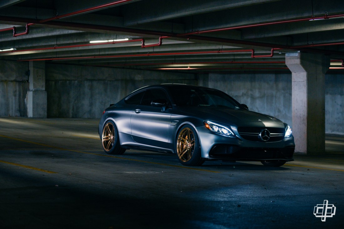 Mercedes Benz AMG C63 S Coupe for Vossen Wheels Houston Automotive Photography