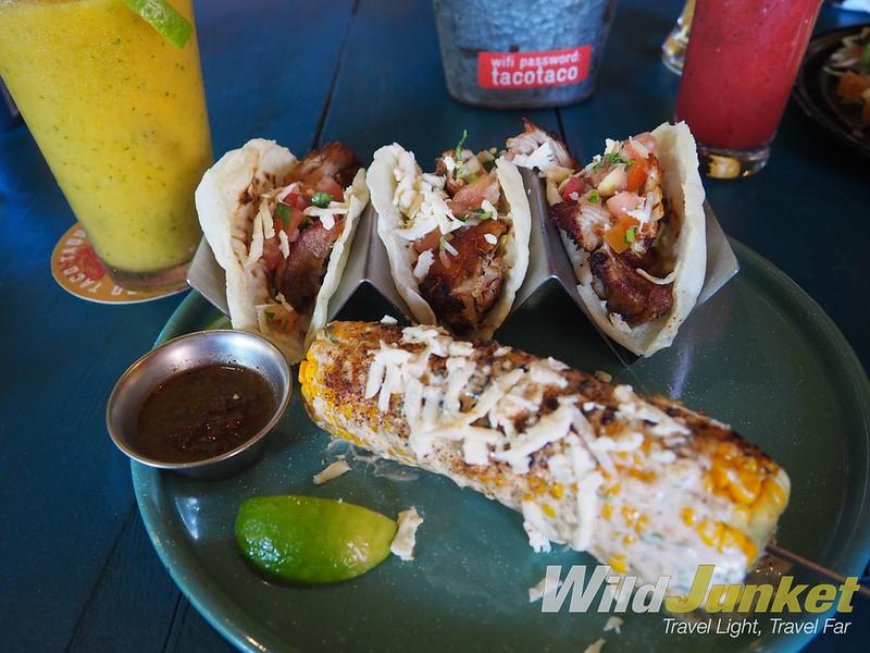 one week costa rica itinerary - taco taco food