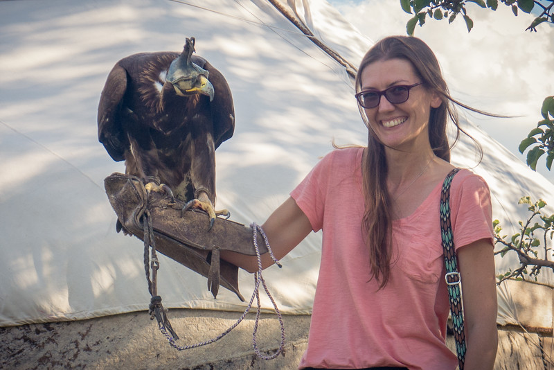 Bonding with a beautiful Golden Eagle