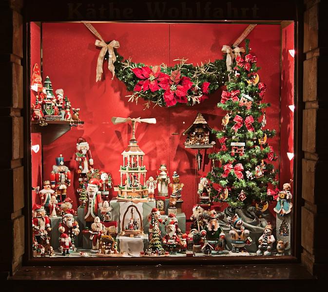Christmas store window display in Bamgber Germany