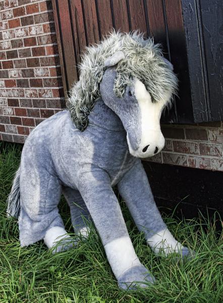 Eeyore - stuffed animal discarded toy