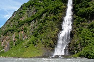 Bridal Veil Falls in Keystone Canyon near Valdez, Alaska