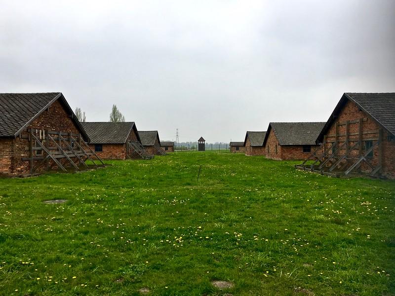 the boys barracks at Birkenau