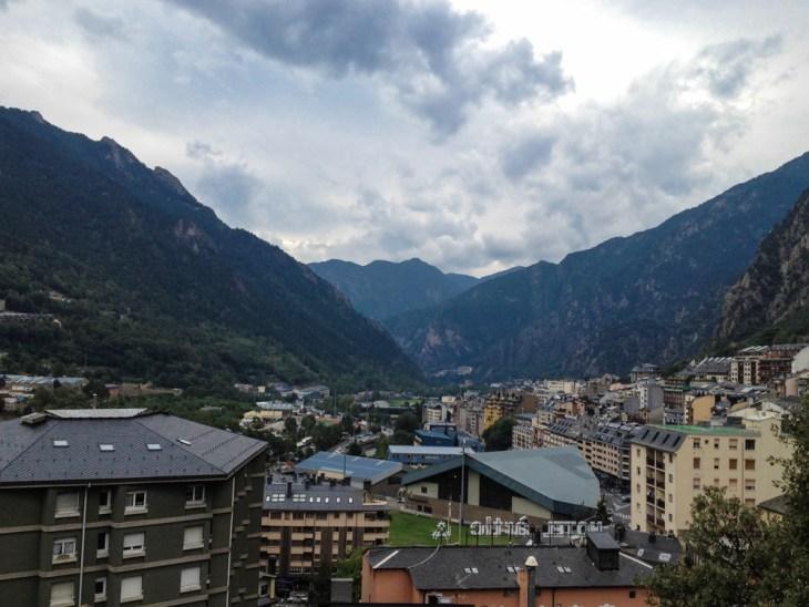 Looking at Andorra la Vella towards Spain