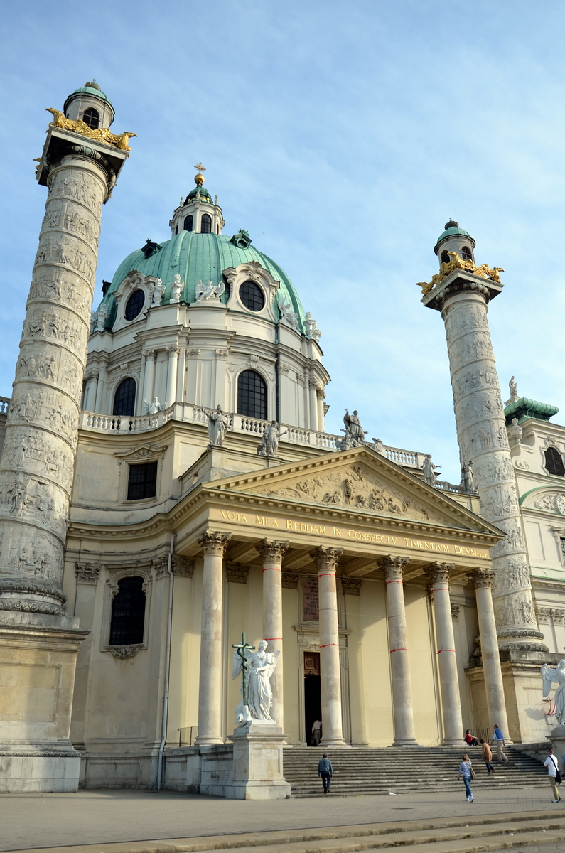 Karlskirche in Vienna, Austria.