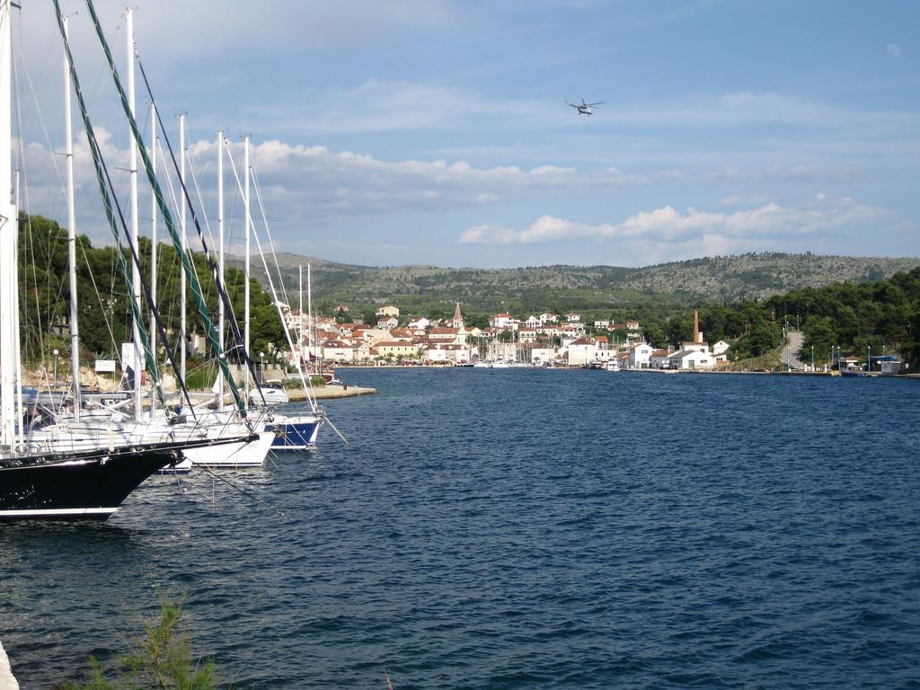 boats in milna habor croatia