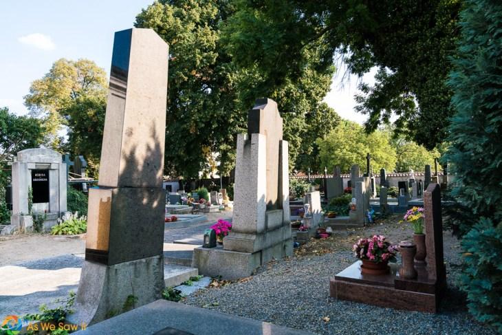 Gravestones next to Sedlec Ossuary