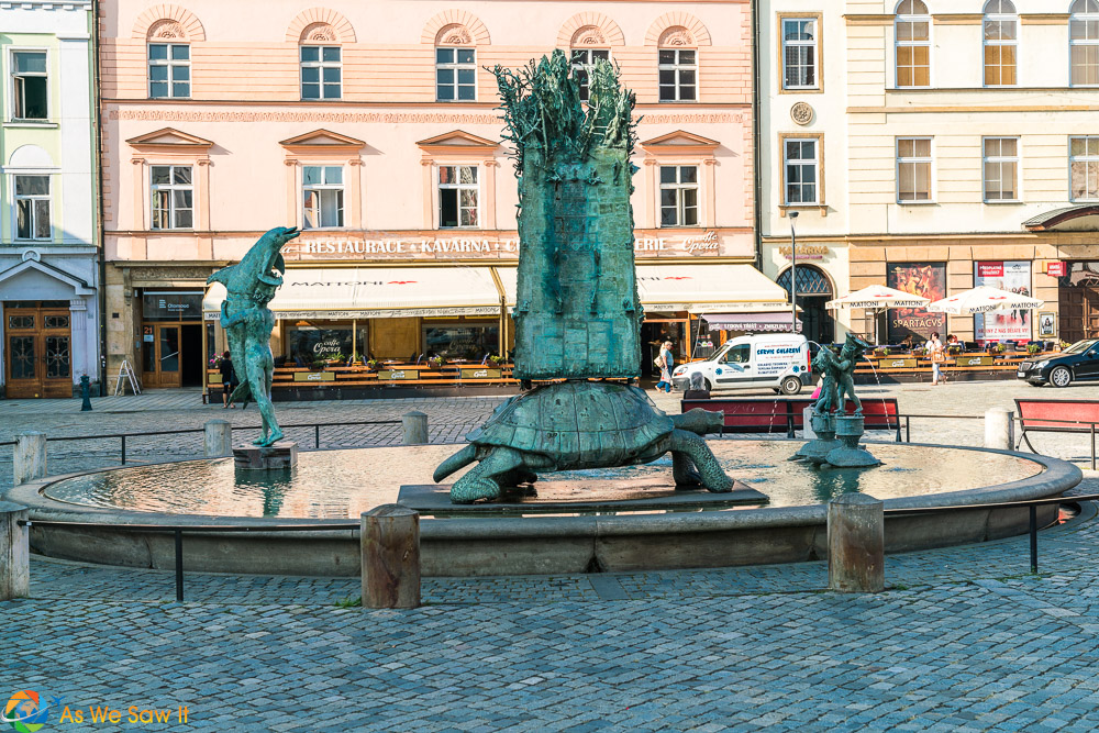 Turtle Fountain Olomouc
