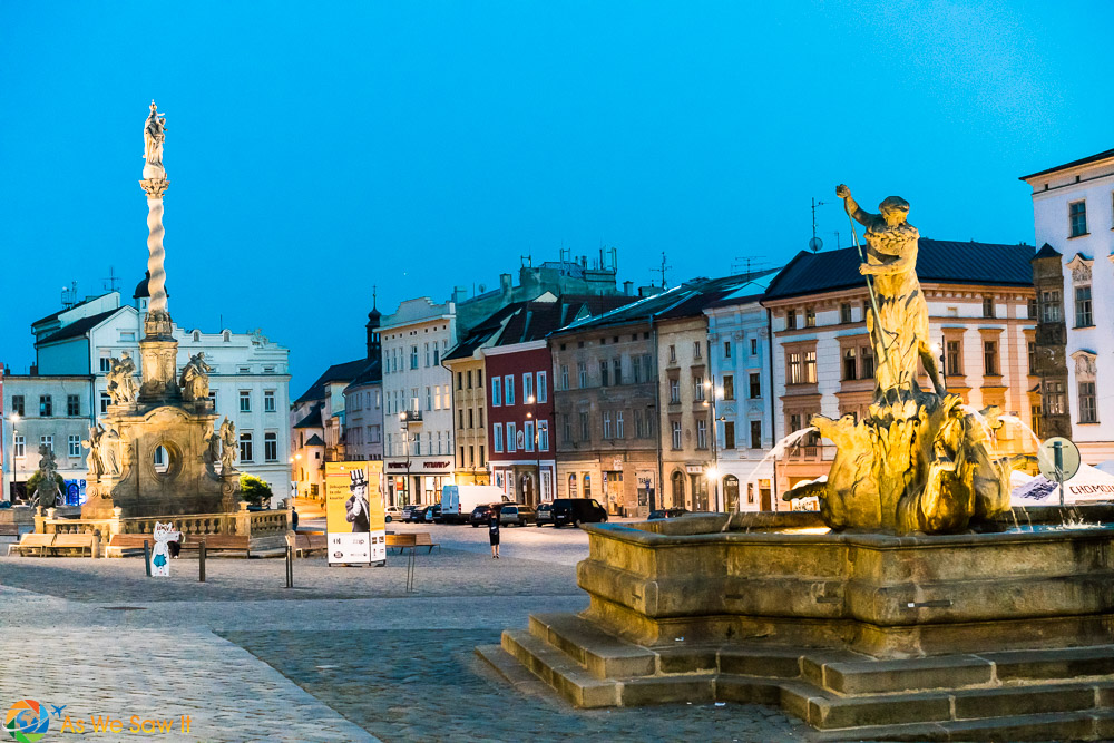 Olomouc lower square at twilight