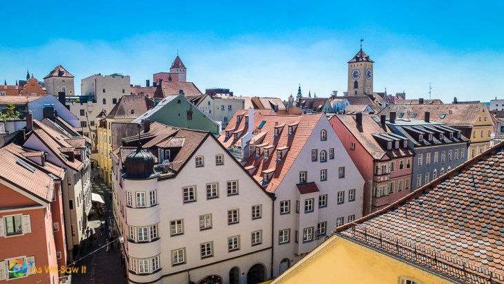 Rooftops of Regensburg, a medieval town on the Viking Grand European Tour itinerary
