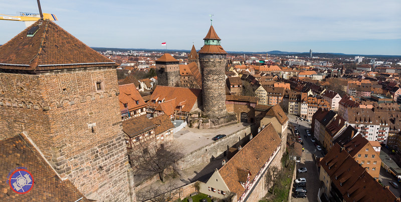 Drone Shot of Nuremberg Castle and the City Beyond (©simon@myeclecticimages.com)