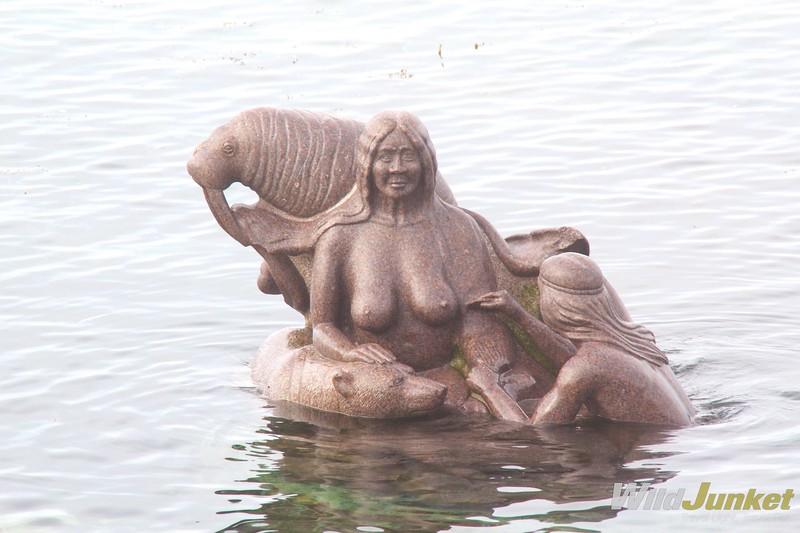 在欧洲的雕塑里