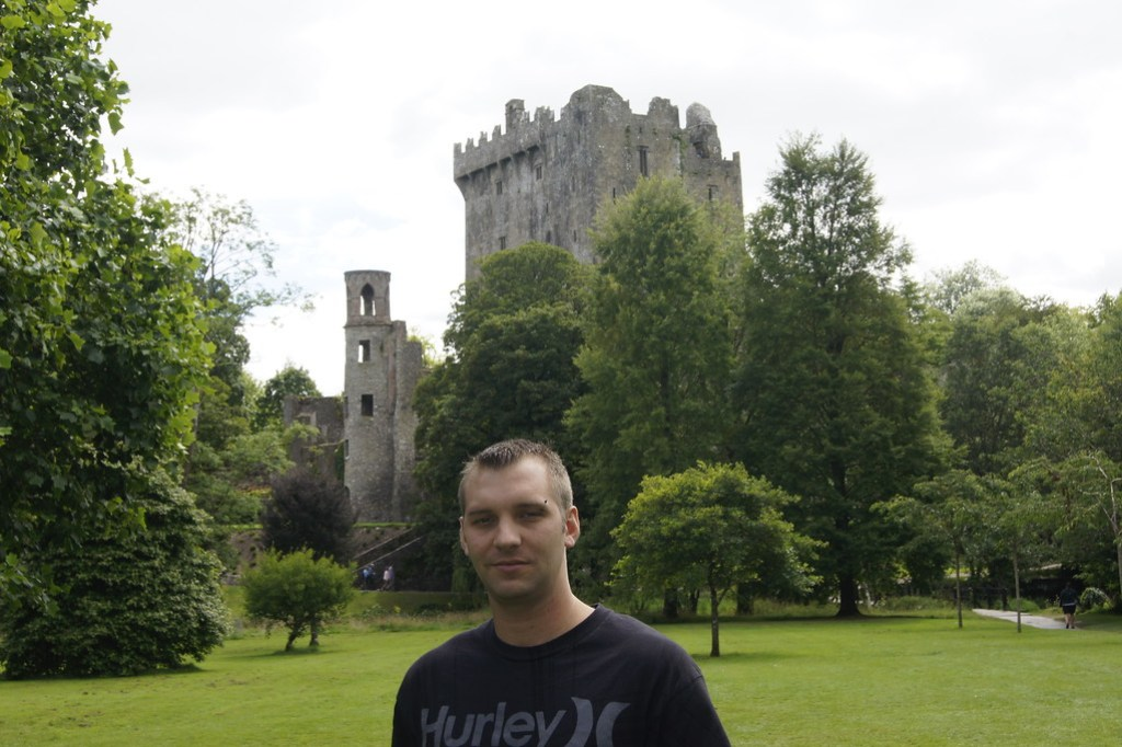 Standing in front of the castle at Blarney Ireland