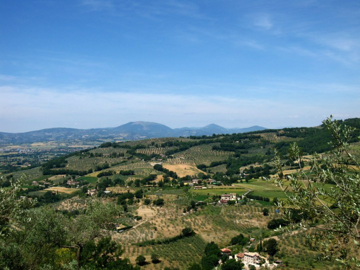 umbrian countryside from the fortress