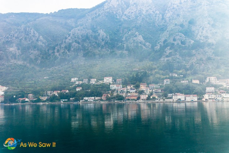 small town on Bay of Kotor