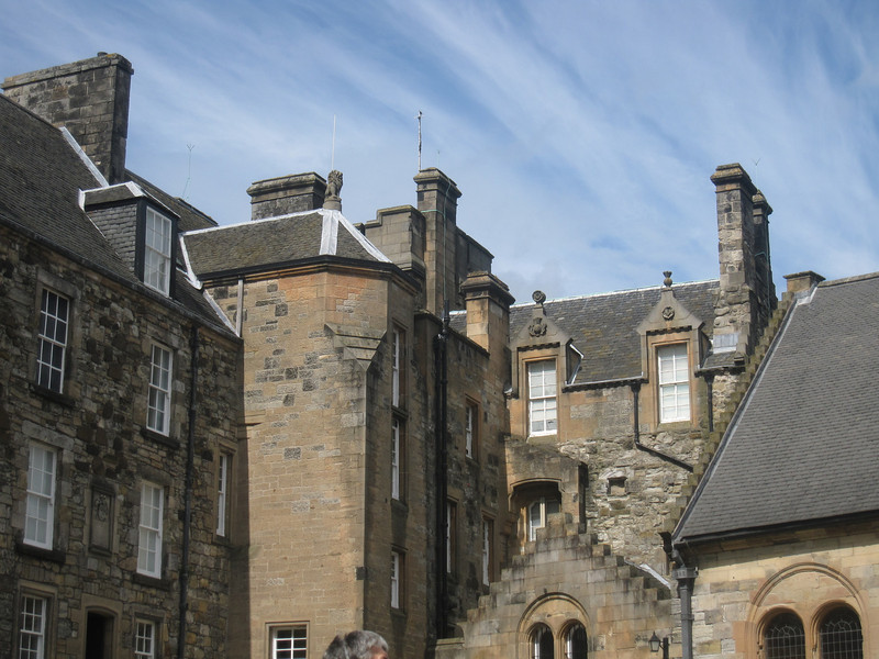 The inner walls of Stirling Castle