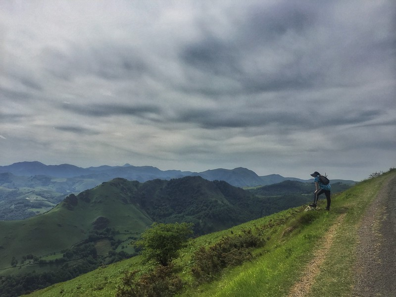 Viewpoint in the Pyrenees on the Camino de Santiago