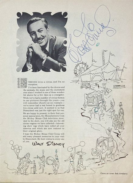 Walt Disney Signed Book