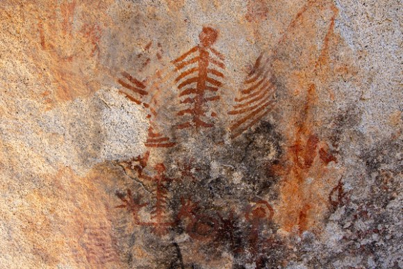 Canebrake Wash Skeleton Pictographs