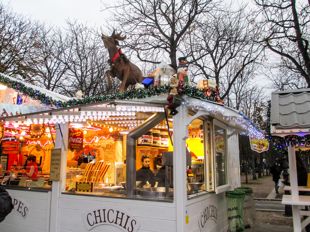Christmas Markets are prepared to go in Paris in November.