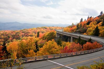 Linn Cove Viaduct in the Autumn