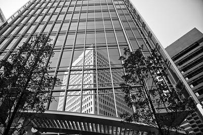 Black and White Photo of Midtown Atlanta