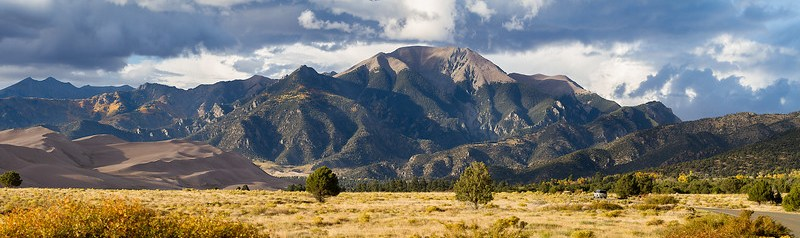 The Great Sand Dunes National Park and Preserve Pano - Part 3