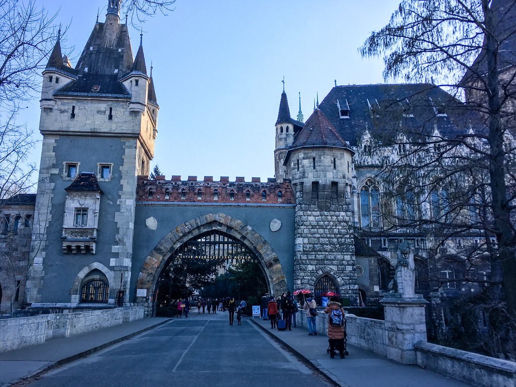 roam around these grounds in budapest in winter
