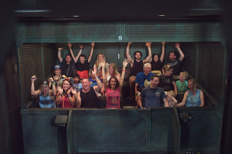 On ride photo of the Tower of Terror at Disney's Hollywood Studios, Orlando Florida