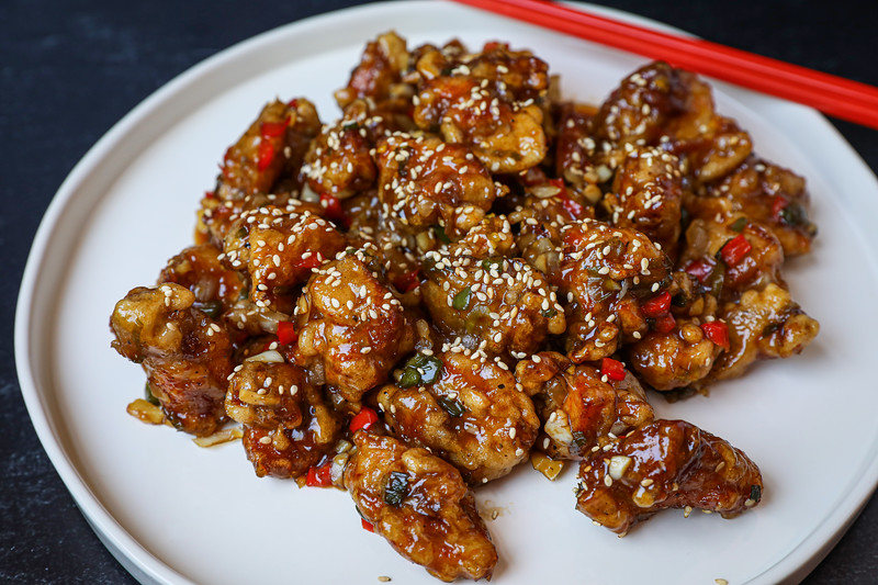 Kkanpunggi Korean Spicy Garlic Fried Chicken Recipe
