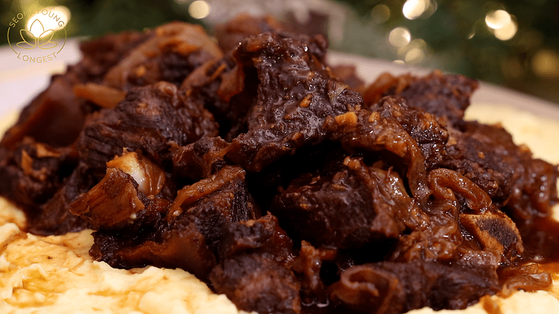 Korean Braised Beef Short Ribs Recipe & Video