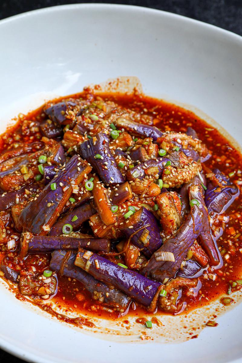 Korean Spicy Garlic Eggplant Recipe