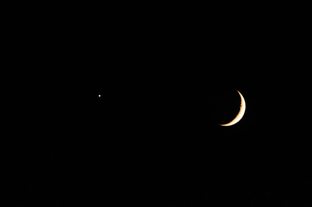 Venus Kissing the Moon