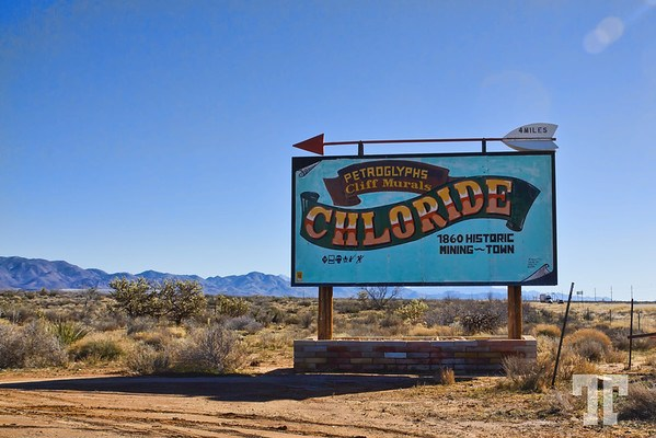 Chloride sign near highway 93 Arizona