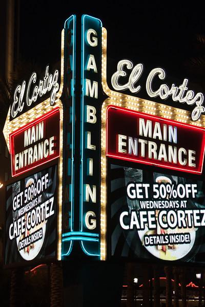 El Cortez Neon street sign