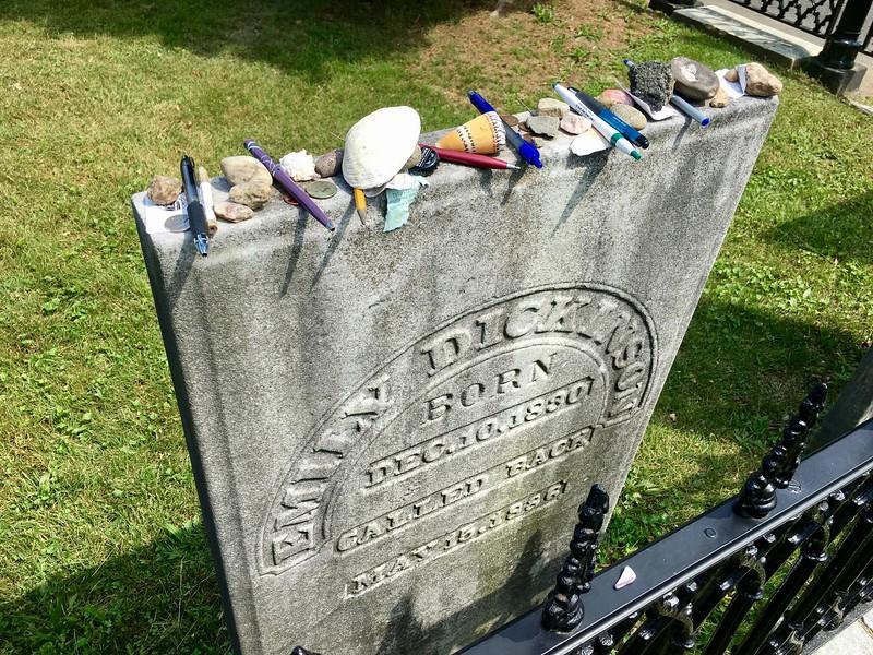 Emily Dickinson's gravestone in Amherst, Massachusetts