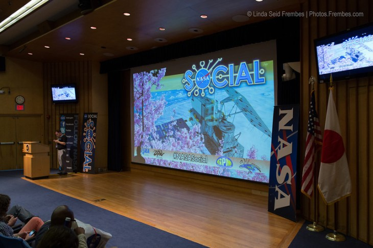 The stage at Goddard Building 3 was set for our Global Precipitation Mission presentation.