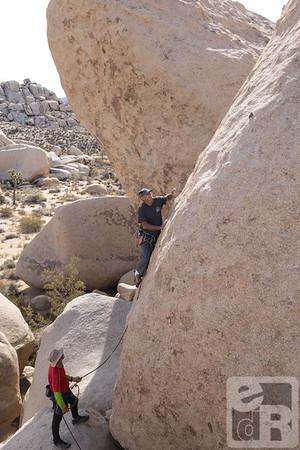 Todd Gordon on his way up the friction climb