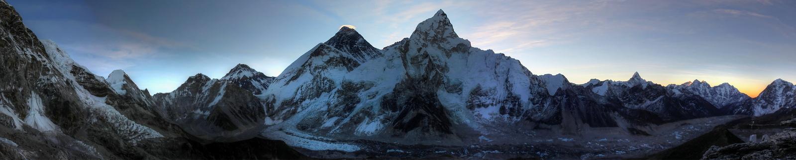 Mount Everest & Khumbu Sunrise Panorama