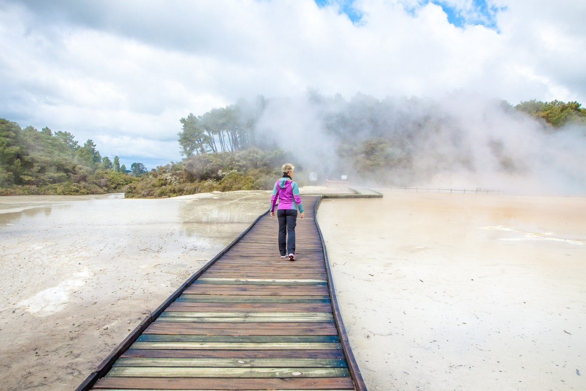 Things to Do in Rotorua: The area has lots of geothermal activity but Wai-O-Tapu is a must see for New Zealand's most colorful area! | www.eatworktravel.com - The luxury, adventure travel couple!