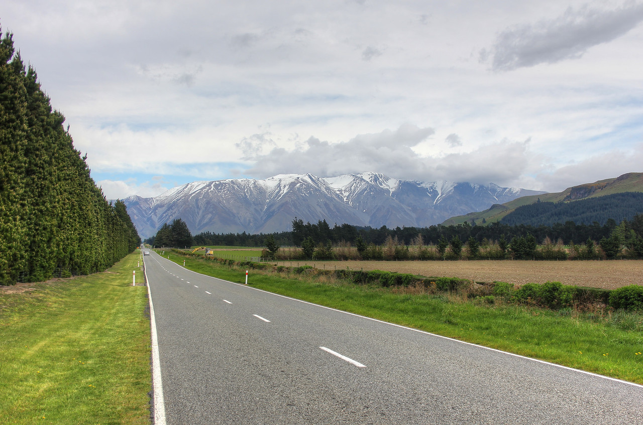 Driving to Mount Hutt, New Zealand