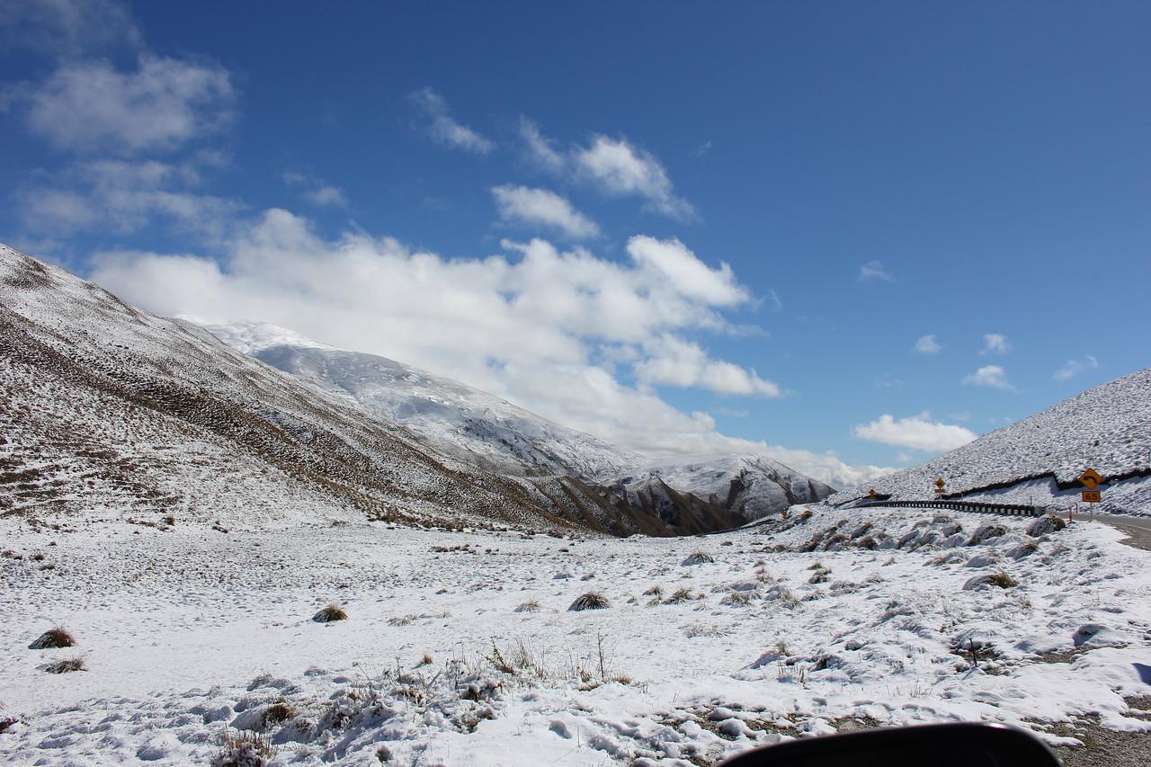 Fresh snow on the Crown Range