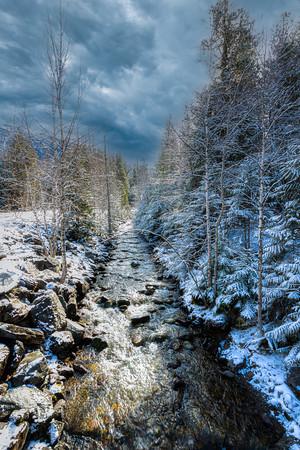 Snow lined Creek