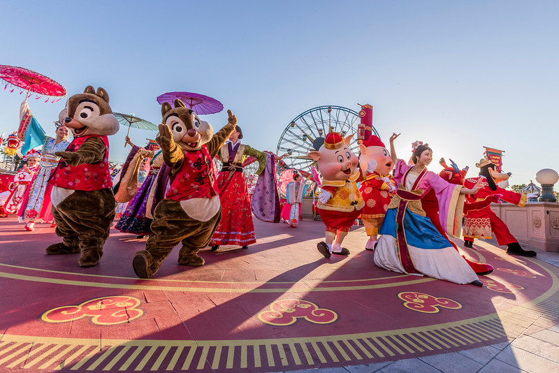 """Mulan's Lunar New Year Procession"" at Disney California Adventure Park"