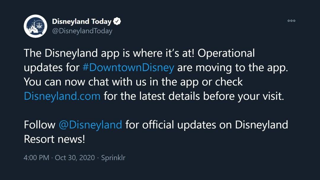 disneylandtoday shuttered twitter account