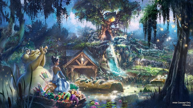 princess and the frog splash mountain