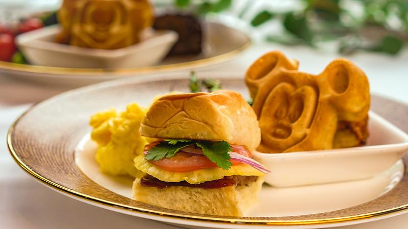Disney Princess Breakfast Adventures at Disney's Grand Californian Hotel & Spa - Pulled Beef Slider