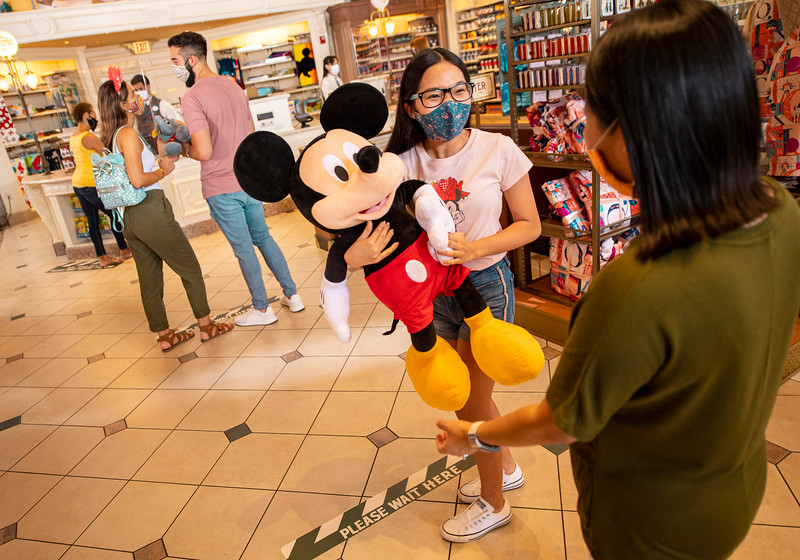 Physical Distancing at Walt Disney World Resort Theme Park Retail Shops