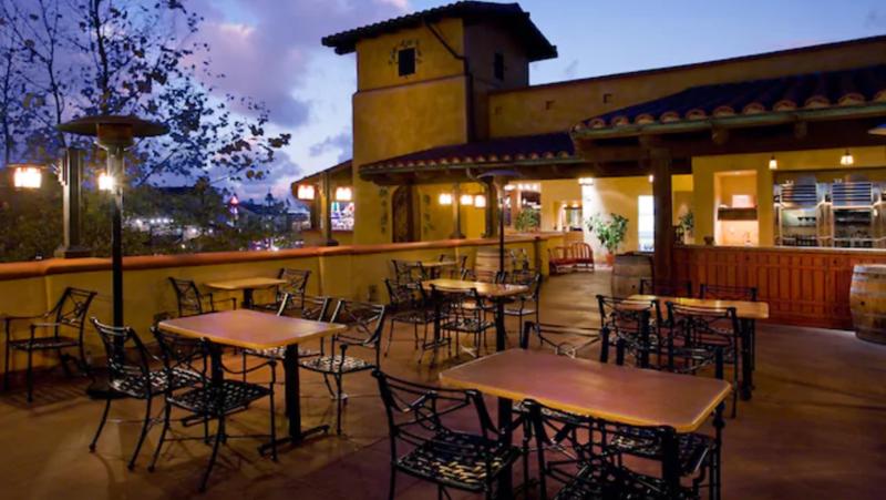 alfresco tasting terrace outside