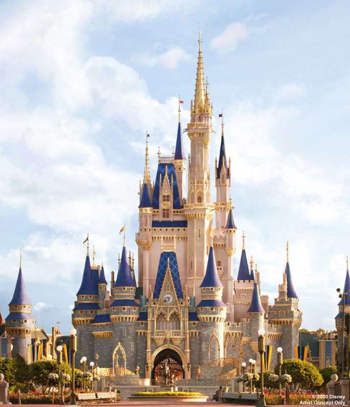 cinderella castle royal makeover 2020